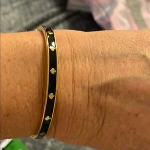 Kate Spade bracelet - black  w/gold around bangle